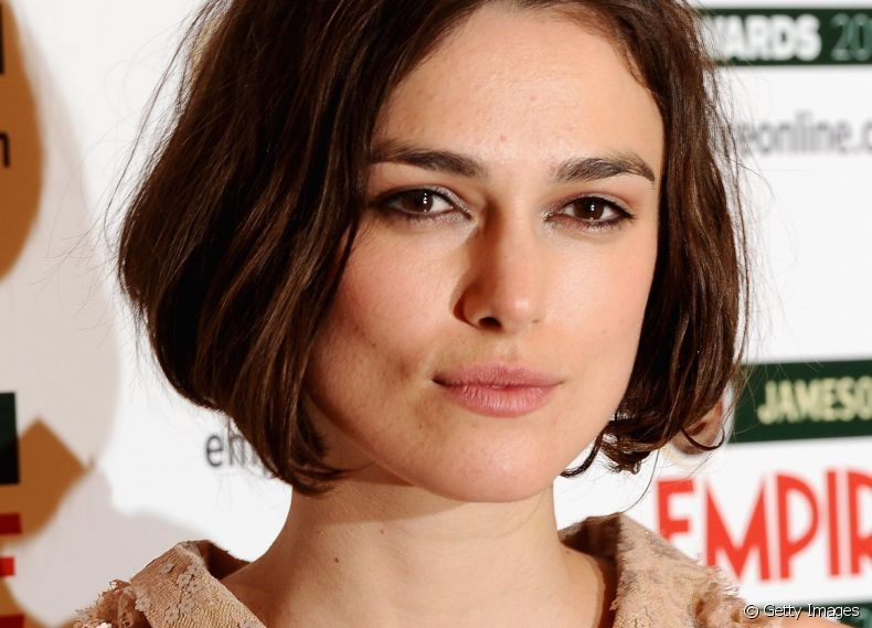 O chanel de Keira Knightley é ideal para mudar o visual do long bob e manter os fios curtos