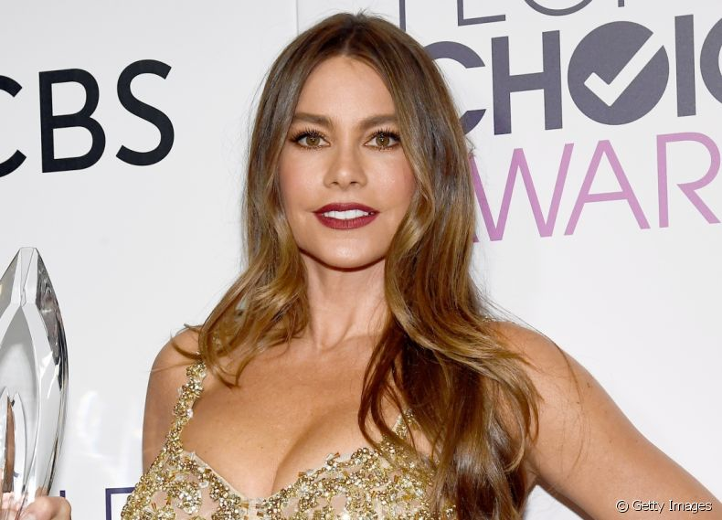 Sofia Vergara apostou no styling ondulado para o People's Choice Awards 2017